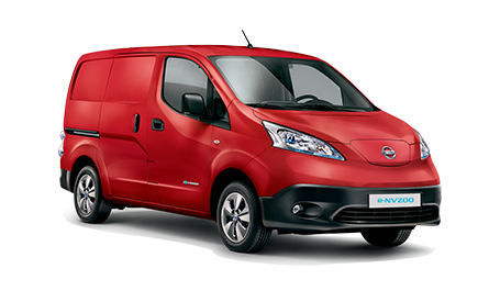 Nissan e-NV200 utilitaire électrique rouge