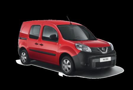 Nissan utilitaire NV250 compact et polyvalent rouge